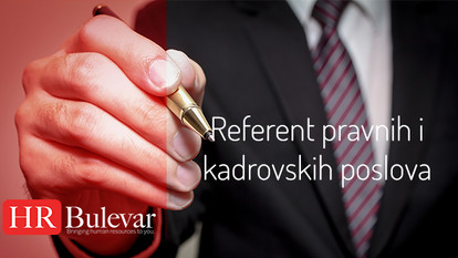 Referent pravnih i kadrovskih poslova