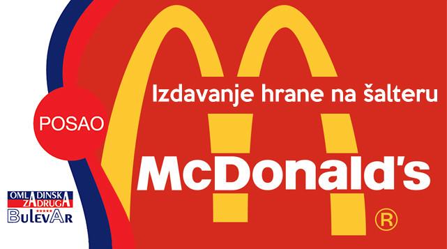 Posao u McDonaldsu, McDonalds posao