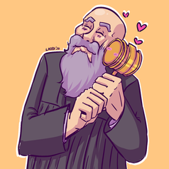Judge and his Gavel Fanart