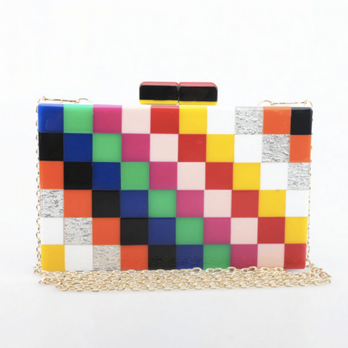 Multicolour Box Clutch