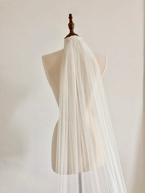 Cathedral-length Veil (Silk Tulle)