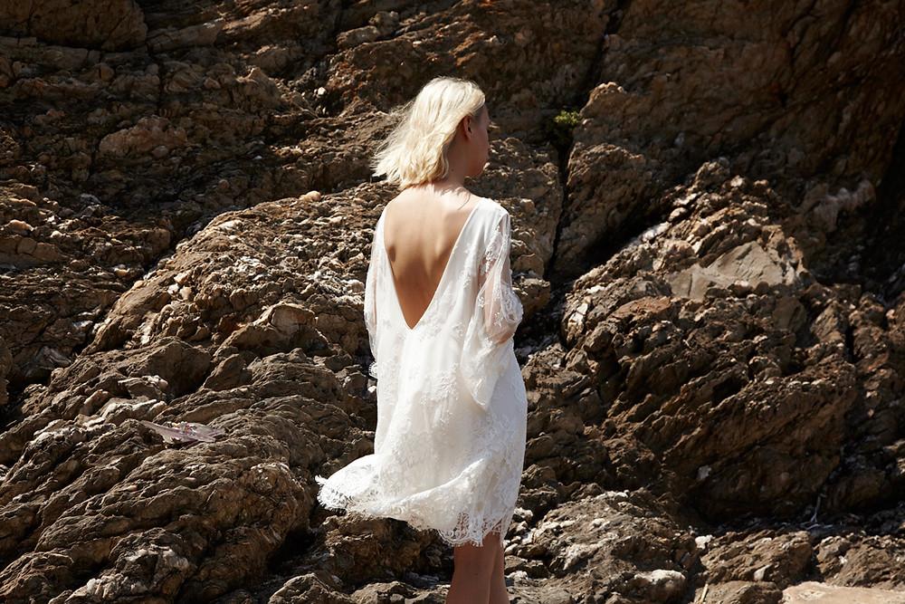 Elise Hameau french wedding dresses at Carte Blanche Bride Australia