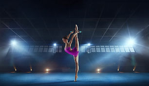 Beautiful rhythmic gymnast in profession