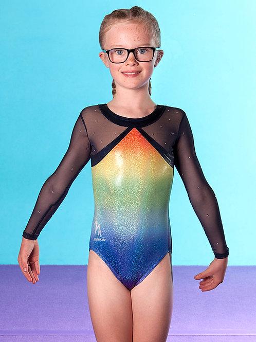 Rainbow Gymnastics Milano exclusive performance leotard