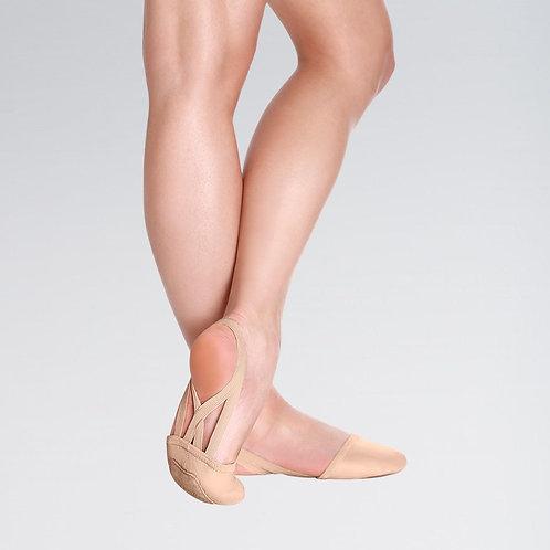 Leather Half Gymnastics Shoe with Double Elastics