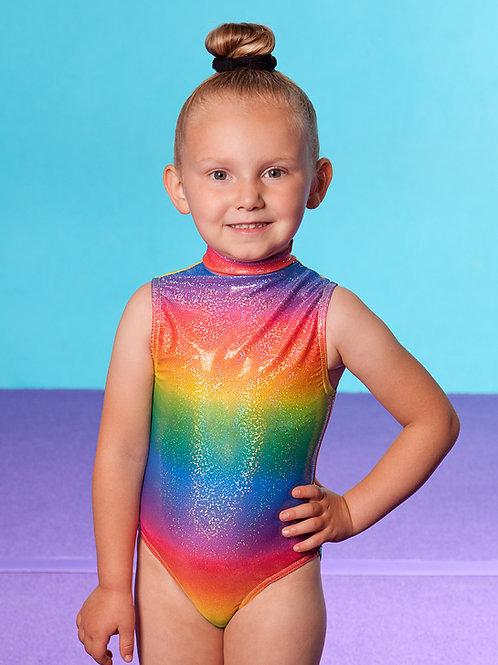 Rainbow Gymnastics hologram club leotard