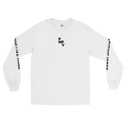 Black Text Long Sleeve T-Shirt