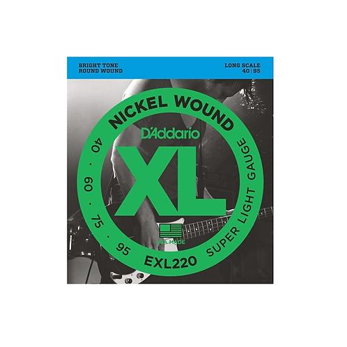 ENCORDOAMENTO PARA CONTRA BAIXO 4 CORDAS EXP220 - 0.040-0.095 D'Addario