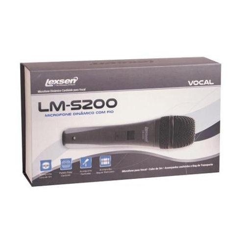 MICROFONE  DINÂMICO  LM-S200 COM BAG E FIO - LEXSEN