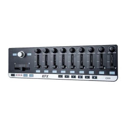 KFX CR9 CONTROLADOR  MIDI USB PARA DAW 9 FADERS BOTÕES