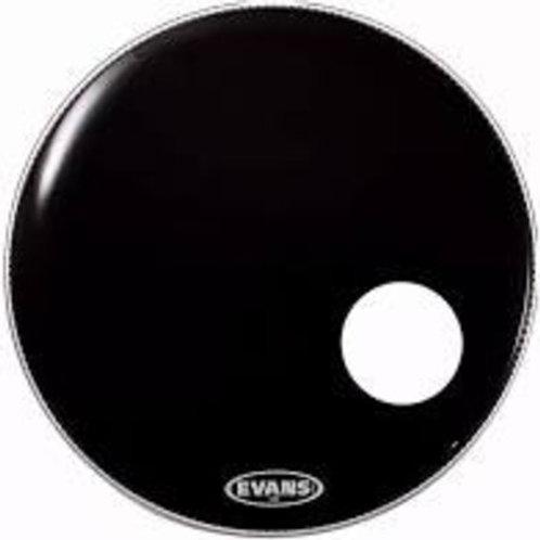 PELE RESPOSTA BUMBO 22 PRETA EVANS EQ3 BD22RB RESONANT BLACK