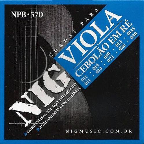 ENCORDOAMENTO VIOLA CAIPIRA CEBOLÃO BOLINHA  NPB 570.