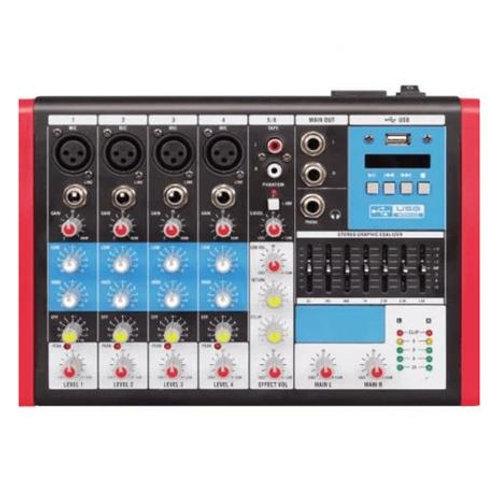 MESA SOM 6 CANAIS  COMPACTA  SOUNDVOICE  MC6-EUX USB DIGITAL