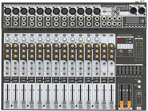 MESA DE SOM 16 CANAIS SOUNDCRAFT ANALÓGICA SX1602FX-USB