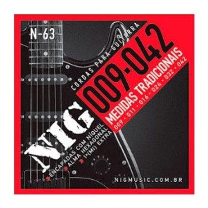 ENCORDOAMENTO 009 / 042  GUITARRA NIG N63
