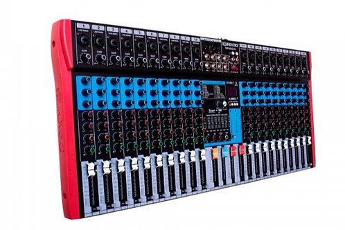 MESA DE SOM SOUDIVOICE 20 CANAIS MS202 EUX USB-EFEITO-EQ GRAFICO 2 AUXILIARES