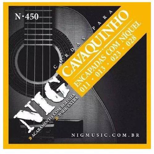 ENCORDOAMENTO CAVAQUINHO Nig N450 + 3 CORDAS SOL
