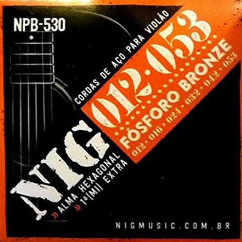 ENCORDOAMENTO VIOLÃO AÇO 012 NIG  NPB 530