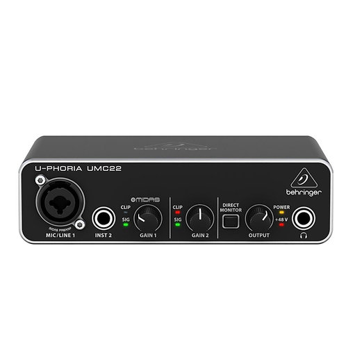 INTERFACE DE ÁUDIO USB BEHRINGER U-PHORIA UMC22