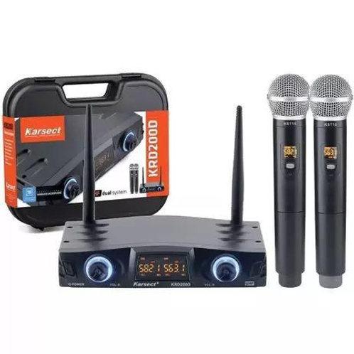 MICROFONE SEM FIO UHF KARSECT  KRD 200D