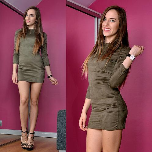 Drape Brown Dress