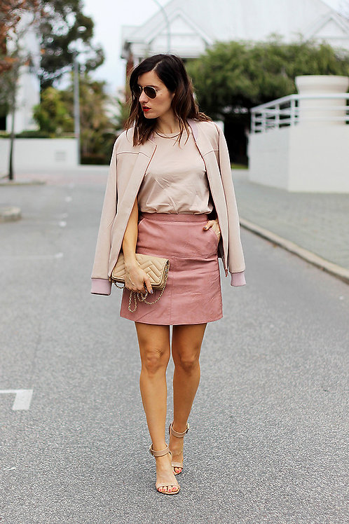 Top and Skirt peach