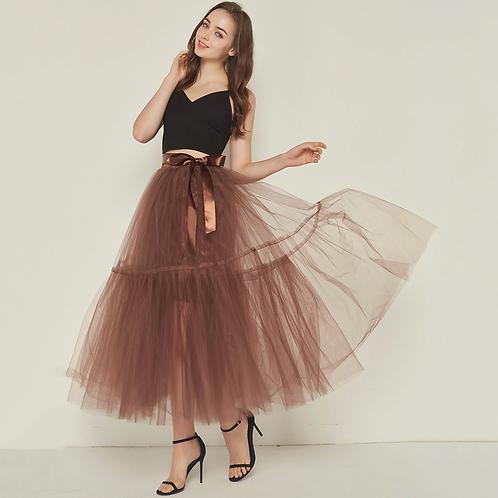 The Flock Dress Brown