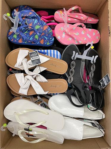 Case Lot of Spring & Summer Footwear for Men, Women & Kids - 50 Units