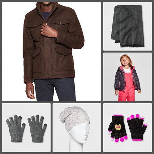 Case Lot of Winter Wear for Men, Women & Kids - 64 Units - Shelf Pulls