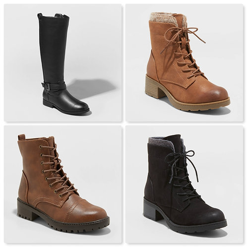 Case Lot of Women's Fashion Boots - 18 Units - Shelf Pull Condition
