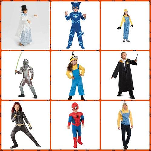 Case Lot of Halloween Costumes - 15 Units -Manifested -Shelf Pulls