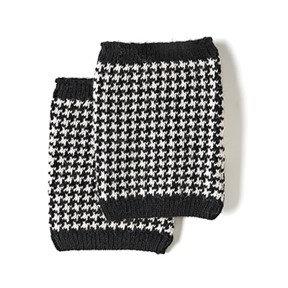 Coco + Carmen Houndstooth Boot Cuffs - Black/White