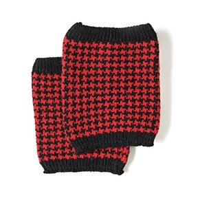 Coco + Carmen Houndstooth Boot Cuffs - Red/Black