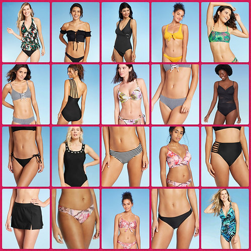Case Lots of Assorted Swimwear For Women & Juniors - New Overstock Condition