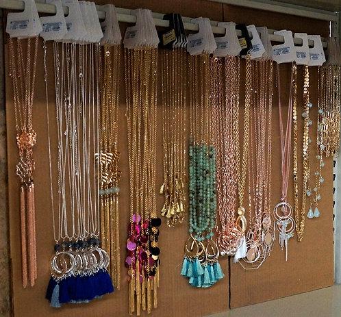 Jewelry Case Lot: Necklaces - 75 Units - $1,274 Original Retail