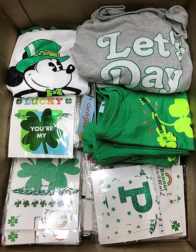 Case Lot Of St. Patrick's Day Merchandise - 127 Units - Shelf Pull Condi