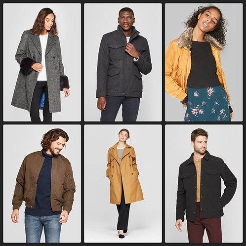 Case Lot of Jackets & Sweaters for Men & Women - 36 Units - Shelf Pulls