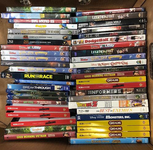 Case Lot Of Blu-Ray & DVD Movies - Shelf Pulls - Manifested