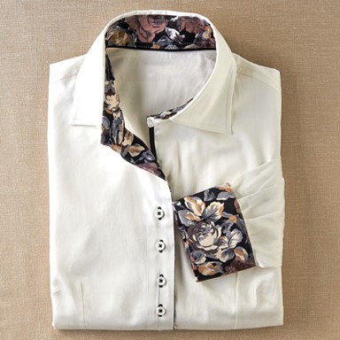 Coco + Carmen Beaumont Shirt - White with Floral