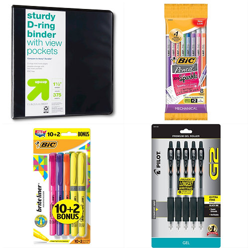 Case Lot of School Supplies - 150 Units - Manifested - Shelf Pulls