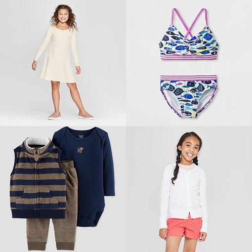 Case Lot: Kid's Clothing - Shelf Pulls - Manifested - $1,108 Orig. Retail