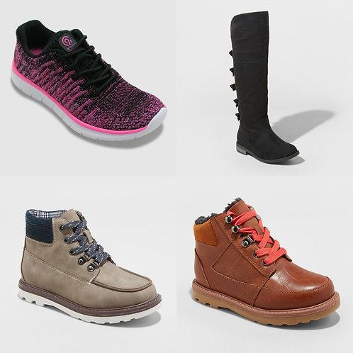 Case Lot: Kid's Shoes - Shelf Pulls - 20 Units - Manifested - $523 Orig. Retail