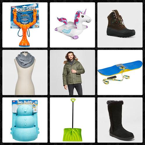 Pallet of Winter Merchandise - 207 Units - Manifested - Shelf Pulls