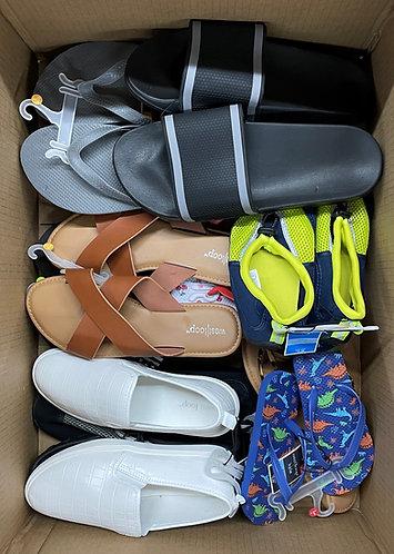 Case Lot of Summer Footwear for Men, Women & Kids - 50 Units - Shelf Pulls