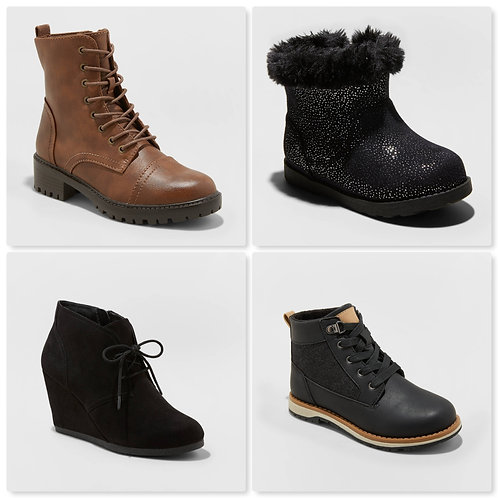Case Lot of Fall & Winter Boots for Women & Kids - 36 Units - Manifested