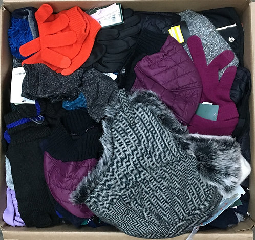 Case Lot of Winter Gear for Men, Women & Kids - 55 Units - Shelf Pulls