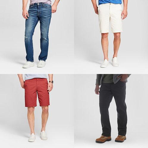 Men's Pants & Shorts Case Lot - Manifested - 96 Units - $1,909 Orig. Retail