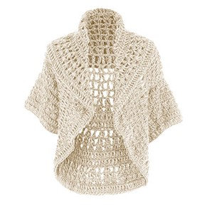 Coco + Carmen Jolie Crochet Shrug - Cream