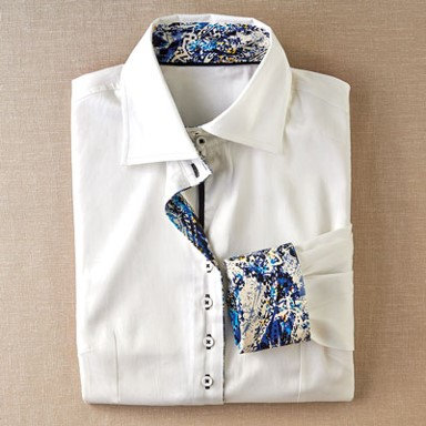 Coco + Carmen Beaumont Shirt - White with Paisley
