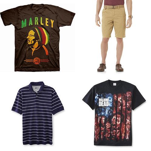 Case Lot: Mens Clothing -  50 Units - New Shelf Pulls - Manifested